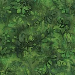 Island Batik Florida Oranges Floral Leaf Green