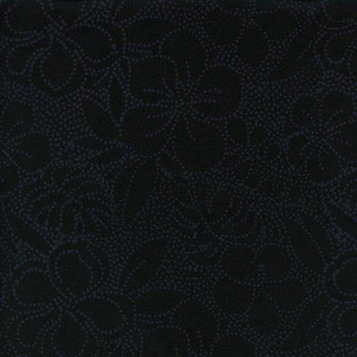 Island Batik Rivers Edge Lrg Floral Dot Licorice