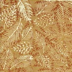 Island Batik Sweet GA Peach Leaf Vein Tan/Rust/Crm