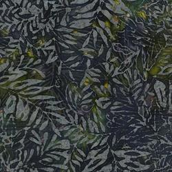 Island Batik Tinsel Fern Drk Blue, Gray, Green