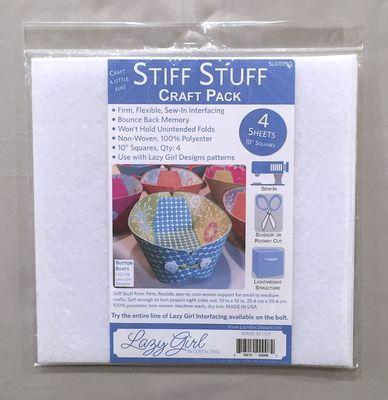 "Lazy Girl Designs Stiff Stuff 10"" Squares Craft Pack"