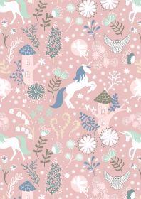 Lewis & Irene Fairy Lights Unicorn Forest Pink