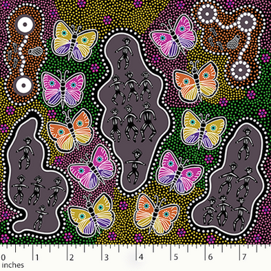 M&S Textiles Australia Butterfly Dance Purple BDDP