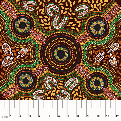 M&S Textiles Australia Sacred Woman's Song Brown WSBR