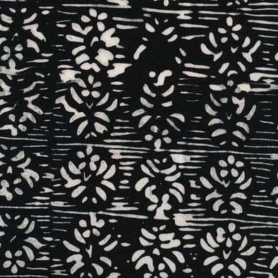 Majestic Batiks Florence Black and White