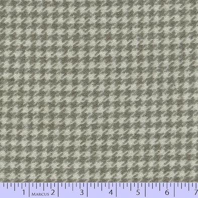 Marcus Fabrics Primo Plaid Concrete Flannel SPA Grey Houndstooth