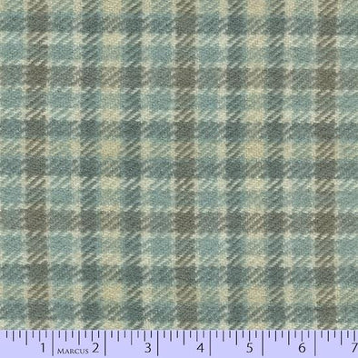 Marcus Fabrics Primo Plaid Concrete Flannel SPA Grey Tattersal