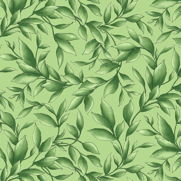 Maywood Studio Catalina Ultra Violet Fresh Green Leaves
