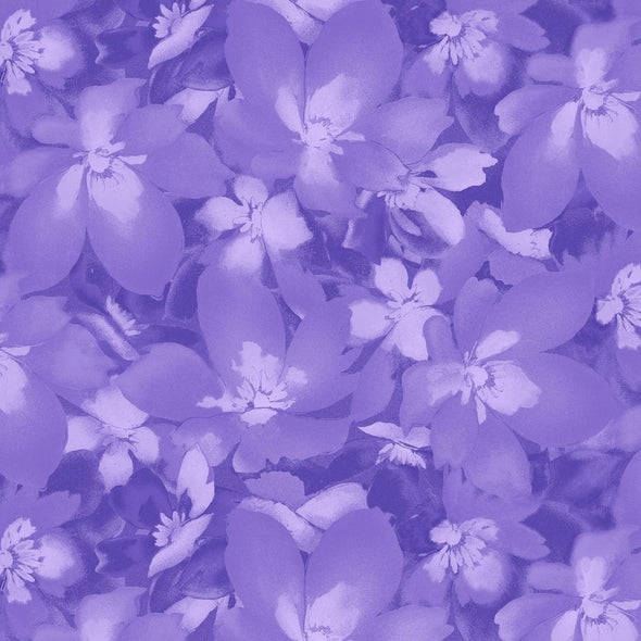 Maywood Studio Catalina Ultra Violet Purple Tonal Blossoms