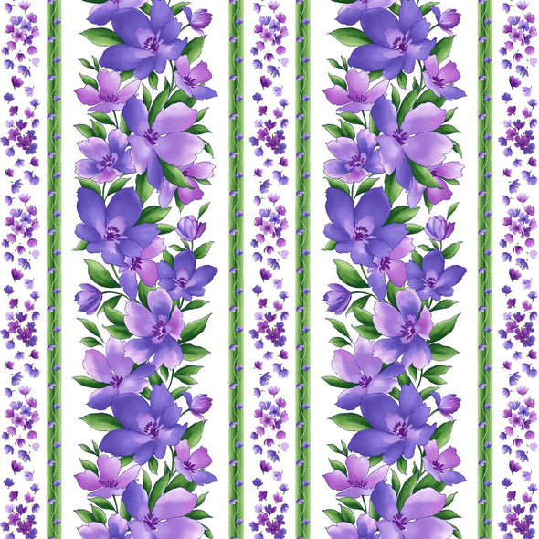 Maywood Studio Catalina Ultra Violet White/Purple Catalina Stripe