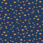 Michael Miller Fabrics Fresh Fish - Navy