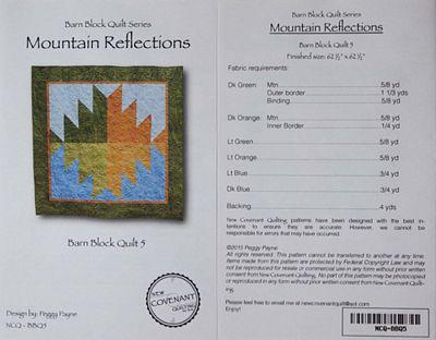 New Covenant Quilting Mountain Reflections - Barn Block Quilt 5 Pattern
