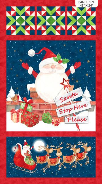 Northcott - Santa Stop Here PLEASE - Santa Stop Here