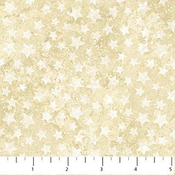 Northcott Silks Stonehenge White Stars on Cream