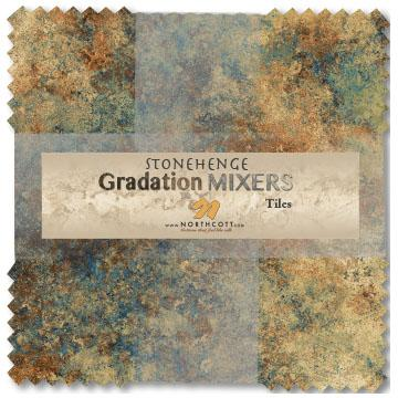 Northcott Stonehenge Gradations Precuts -Brights & Earth