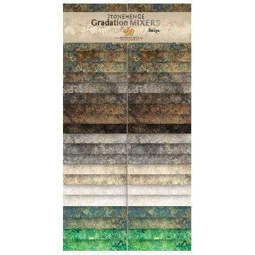 Northcott Stonehenge Gradations Precuts - Brights & Earth