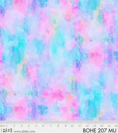P&B Textiles Bohemia -  Blue and Pink