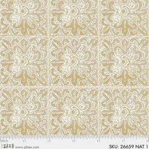 P&B Textiles Earthtones Patterned Beige