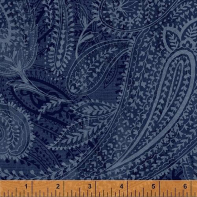 "Windham Fabrics Paisley Blue 108"" Wide Backing"