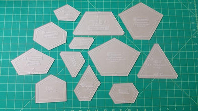 Paper Pieces Acrylic Template Set for Rosettes 2-5