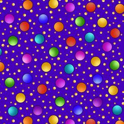 Quilting Treasures Fabrics Alpha Doodle - Dots - Purple