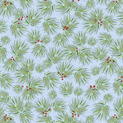 QT Fabrics - Pine - Light Blue