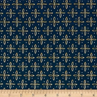 QT Fabrics - Woodland Dream Star - Blue