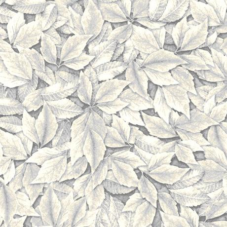 Quilting Treasures Fabrics - Always Face The Sunshine Leaves - Gray