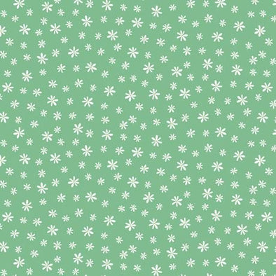 Quilting Treasures Fabrics - Road Trip - Daisy - Green