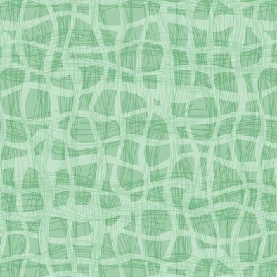 Quilting Treasures Fabrics - Wavy Plaid - Light Green