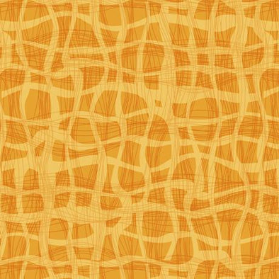 Quilting Treasures Fabrics - Wavy Plaid - Orange
