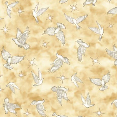 Quilting Treasures Heavenly Doves Parchment