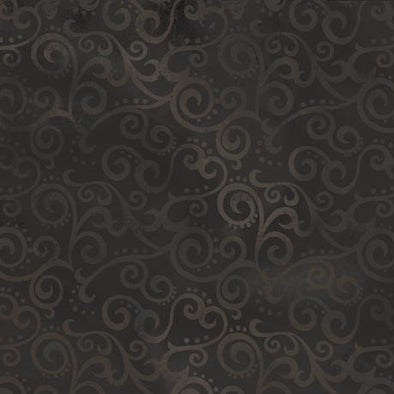 Quilting Treasures Fabrics Ombre Scroll Backing Black