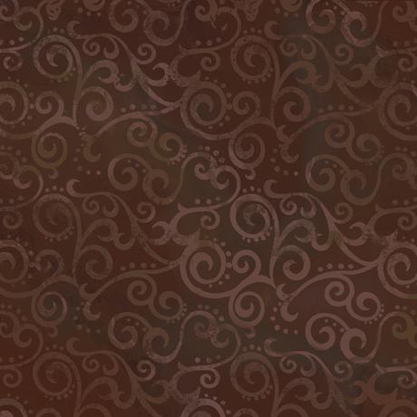 Quilting Treasures Fabrics Ombre Scroll Rootbeer