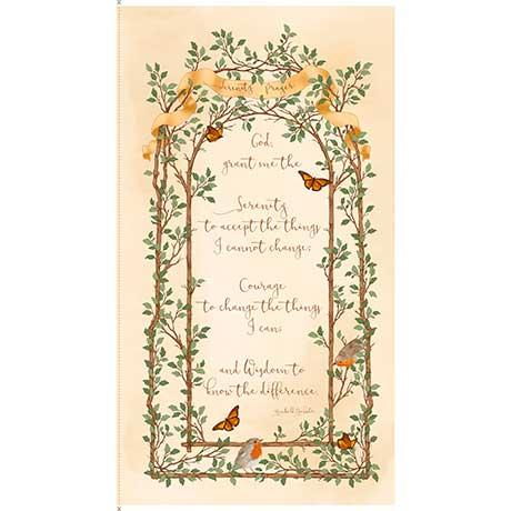 Quilting Treasures Fabrics Serenity Prayer Panel Cream