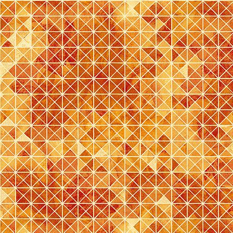 Quilting Treasures Fabrics Soiree Diamond Geometric Orange