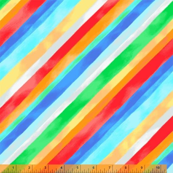 "Windham Fabrics Rainbow Stripe 108"" Wide Backing"