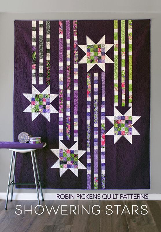 Robin Pickins Quilt Pattern Showering Stars