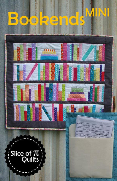 Slice of Pi Quilts Bookeds Mini Quilt Pattern