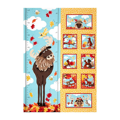 World of Susybee Bruce the Moose Growth Chart Panel Lt Gld