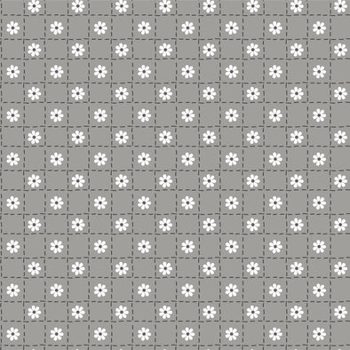 Sweet Bee Shades of Grey Quilted Flowers Gray