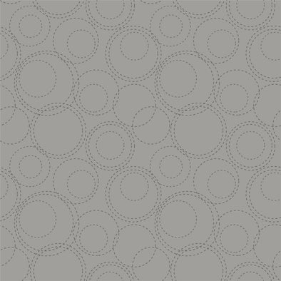 Sweet Bee Shades of Grey Stitched Circles Gray