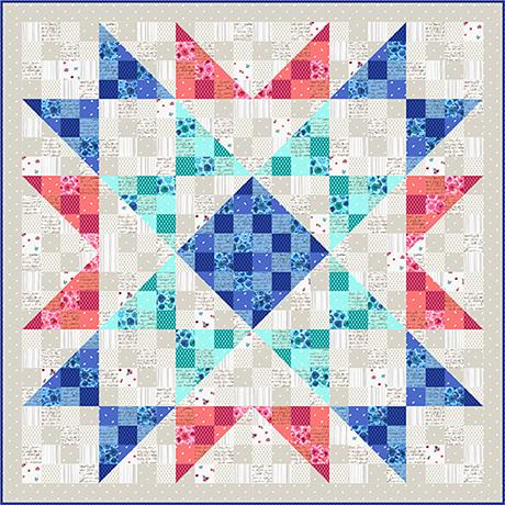 Quilting Treasures Sweet Caroline Memories Quilt Kit