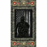 Sykel Enterprises Military Marine Cotton Panel