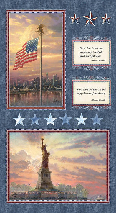 Benartex Thomas Kinkade American Panel