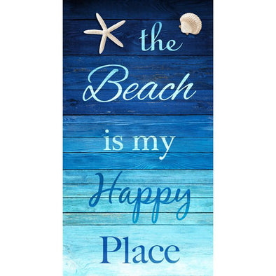 Timeless Treasures Fabrics Beach is my Happy Place Panel