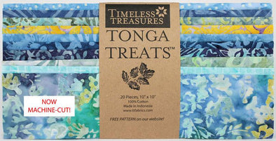"Timeless Treasures Fabrics Tonga Treat Angelfish Shortcake 10"" Squares"