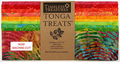 "Timeless Treasures Fabrics Tonga Treat Zing Shortcake 10"" Squares"