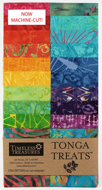 Timeless Treasures Fabrics Tonga Treat Zing Strip Jr
