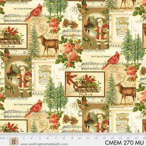 Washington St Studio Christmas Memories Postcards Cream